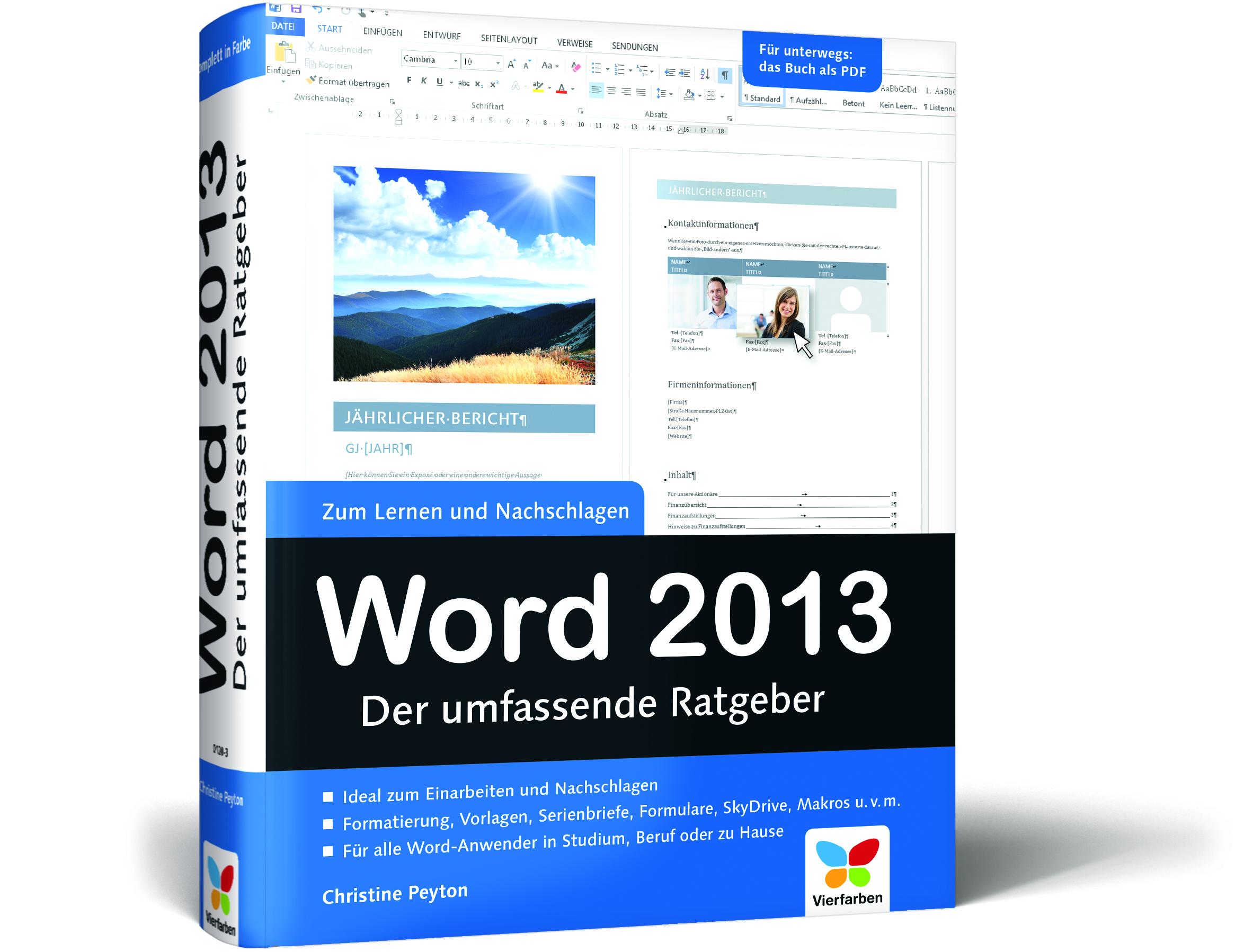 Word 2013 – Der umfassende Ratgeber