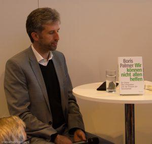 """""""Wir können nicht allen helfen"""" / Boris Palmer auf der Frankfurter Buchmesse 2017"""