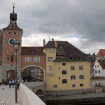"""Regensburg: Aussicht von der """"Steinernen Brücke"""""""
